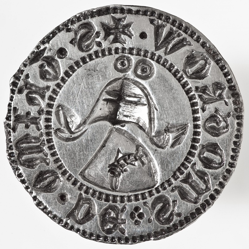 Srebrny tłok herbowej pieczęci Thimona von Smogrow, XIV w.