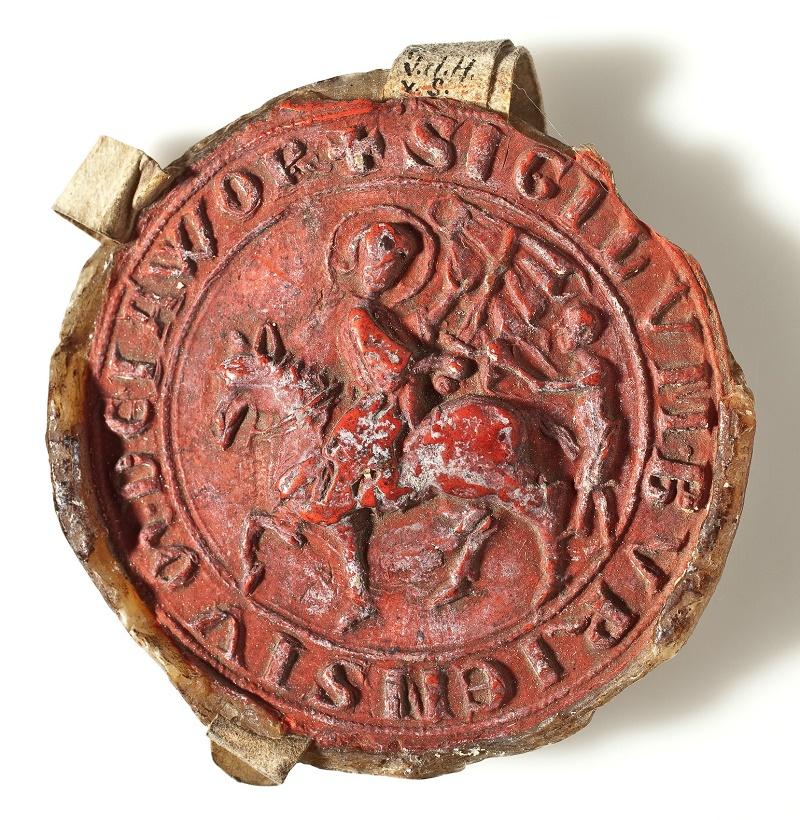 Pierwsza ogólnomiejska pieczęć Jawora z ok. 1300 r.
