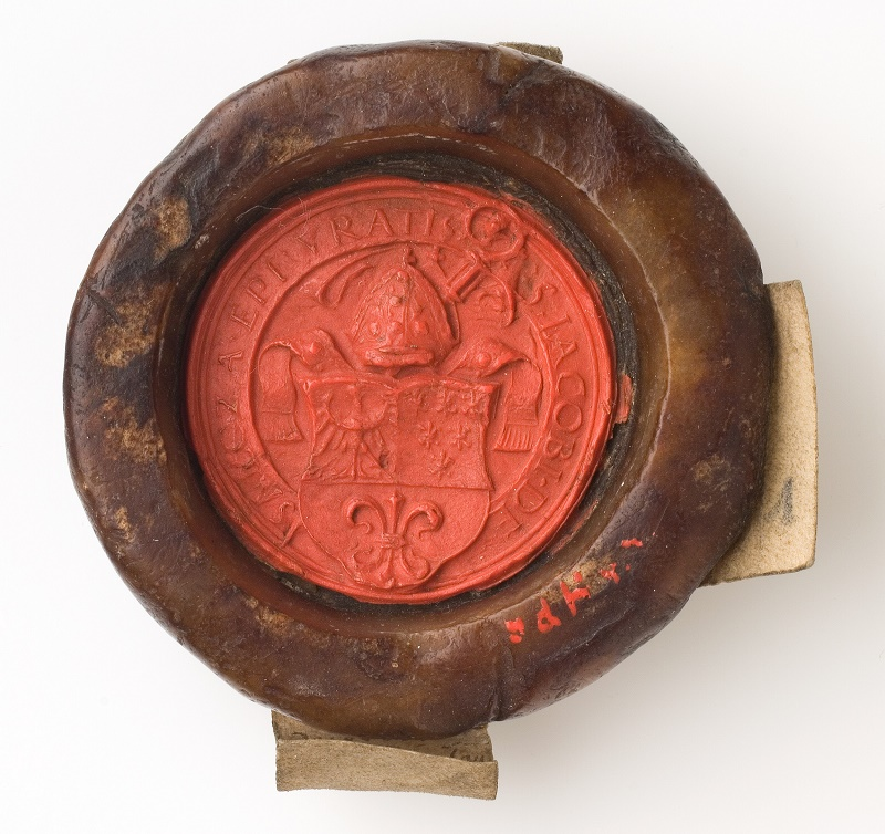 Pieczęć herbowa biskupa wrocławskiego Jakoba von Salza, 1521-1539