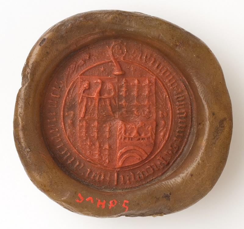 Krzyżacka pieczęć komtura z Longomoso (Włochy, pd. Tyrol) XVI–XVII w.