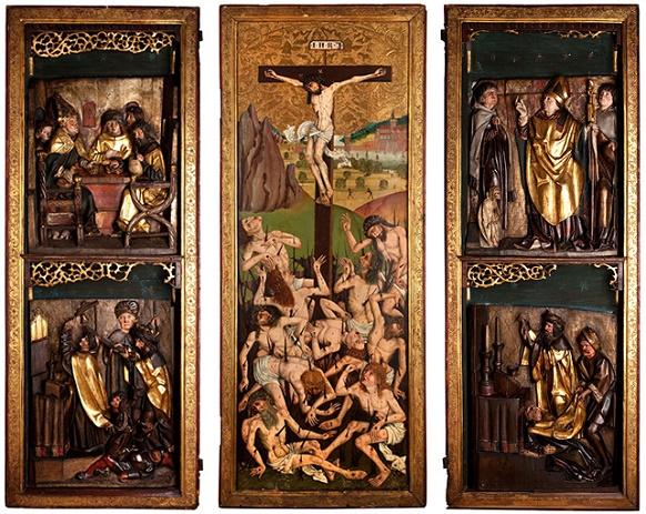 Skrzydła oltarza wBrzegu