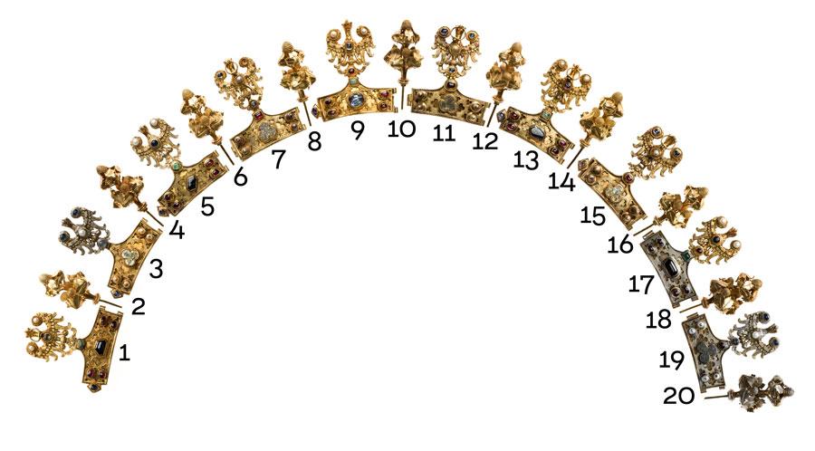 fragmenty złotej korony