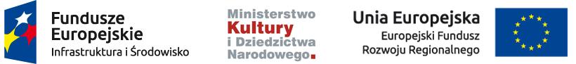 Logotypy Unii Europejskiej orazMinisterstwa Kultury iDziedzictwa Narodowego