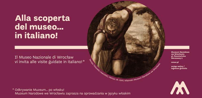 na buraczkowym tle znapisem powłosku wokręgu fragment obrazu Narcyza przeglądającego się zwodzie