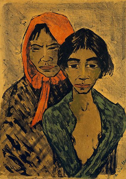Dwie cygańskie dziewczyny, portret modernistyczny