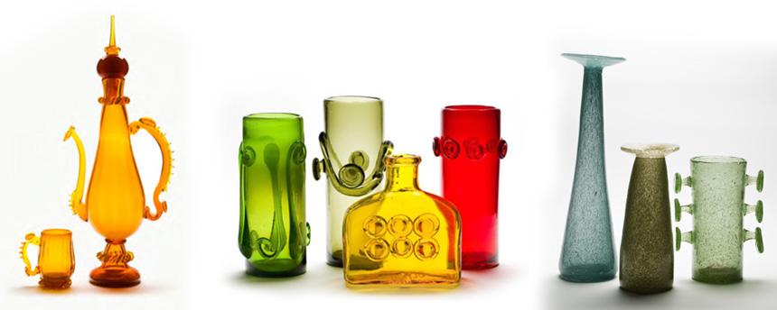 kolorowe szkła, m.in.słynny zestaw onazwie Lajkonik
