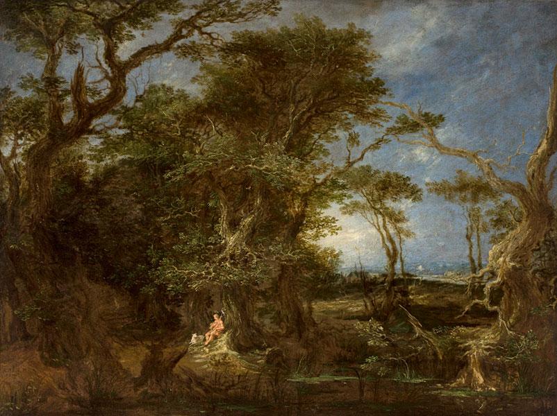 Michael Willmann, Pejzaż ze św. Janem Chrzcicielem, 1656