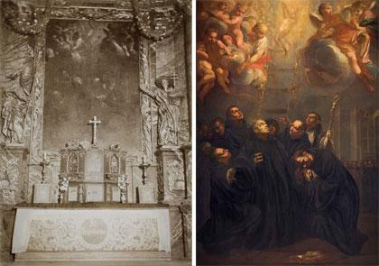 prezetnacja obrazu Śmierć św.Bernarda – miniaturka