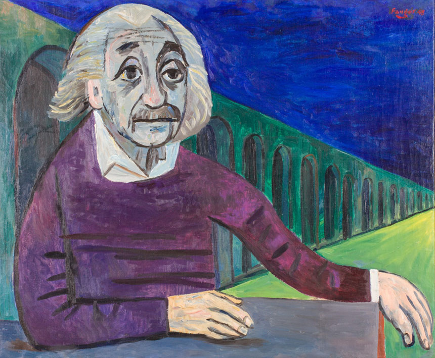 Portret Einsteina autorstwa Fangora
