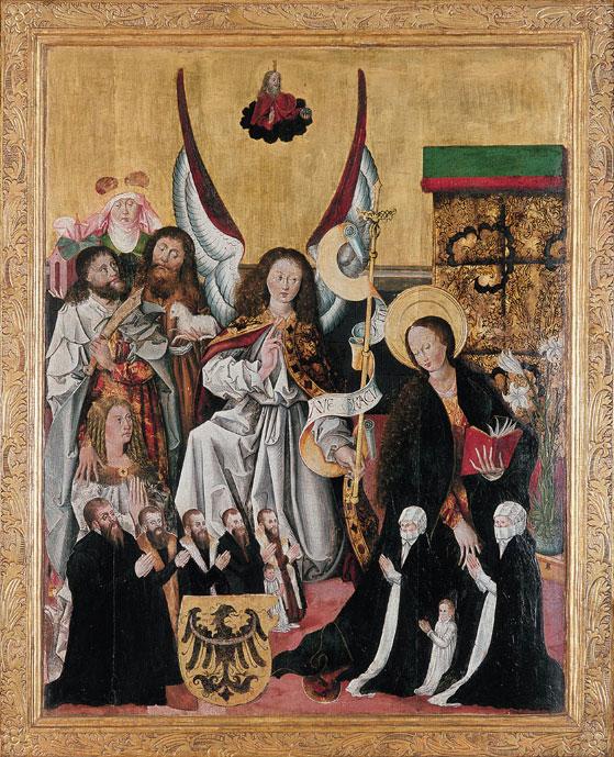 Zwiastowanie wasyście św.św.Jadwigi, Bartłomieja iJana Chrzciciela