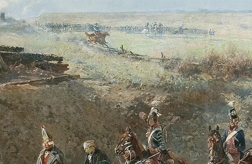 fragment Panoramy zgenerałem Zajączkiem