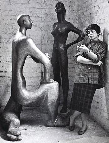 Marek Holzman, Portret Aliny Szapocznikow, 1961