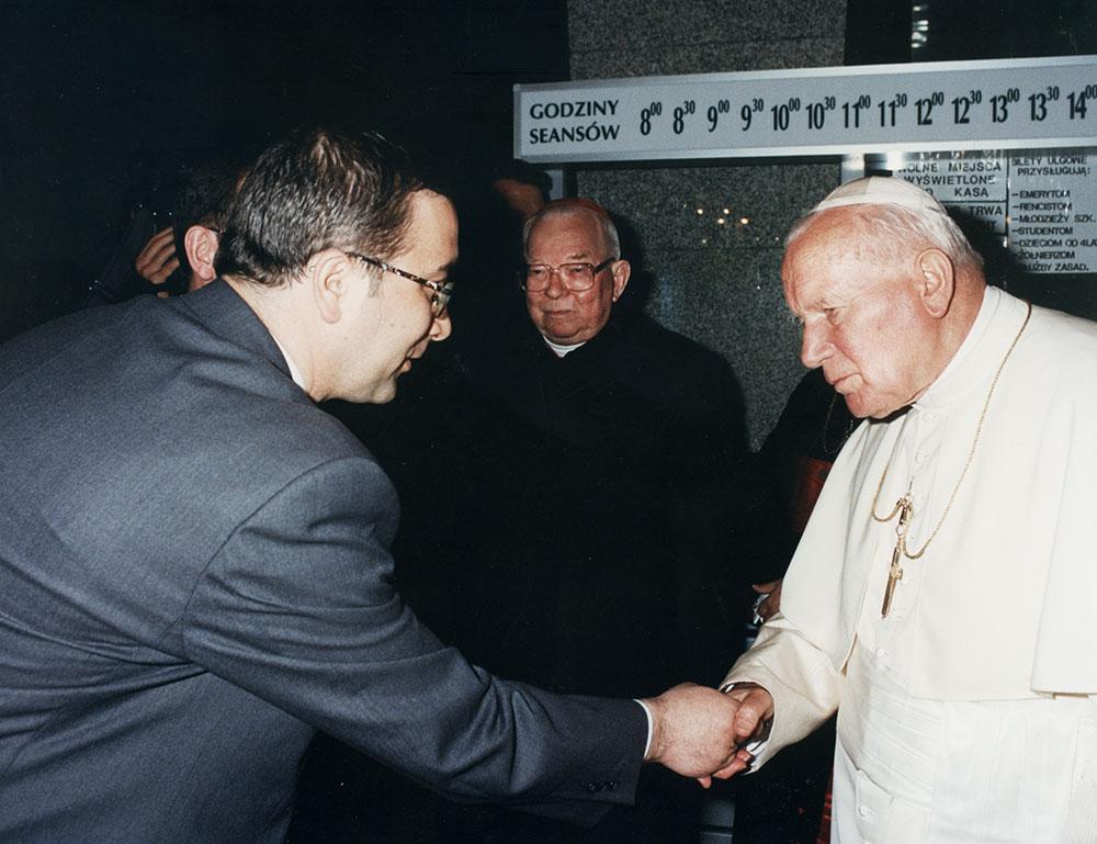 Papież Jan Paweł II wPanoramie Racławickiej