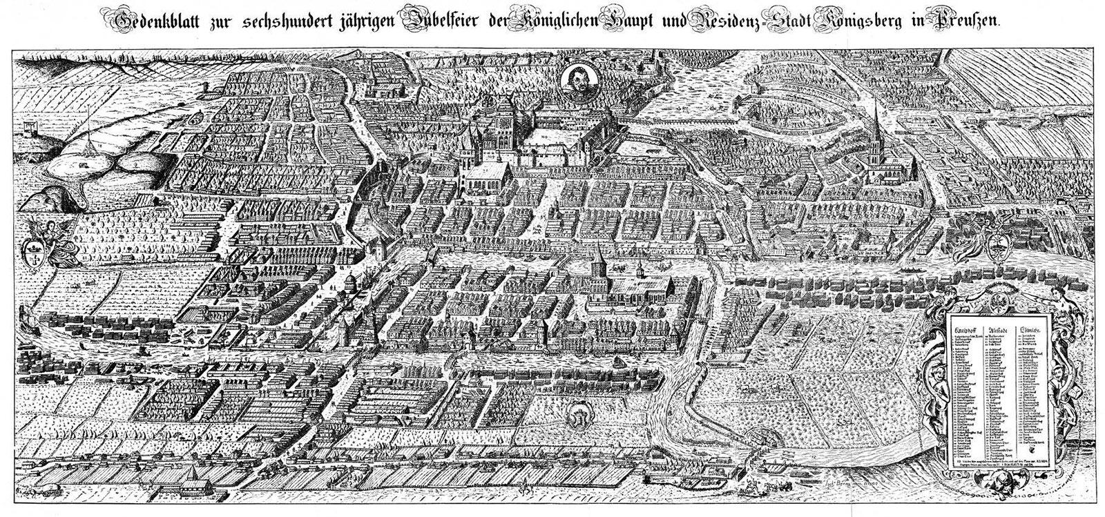 Królewiec (Koenigsberg), Mapy Merian-Erben, 1631–1652