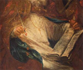 fragment obrazu Willmanna św.Augustyn