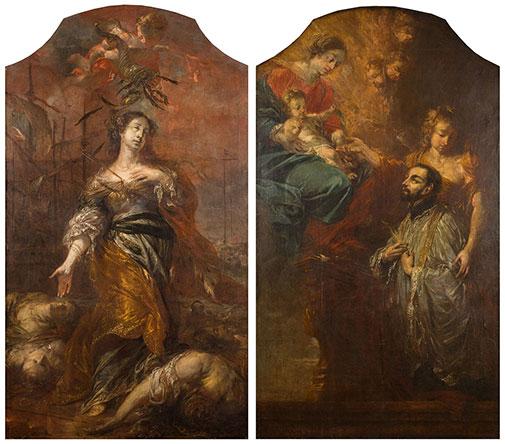 Śmierć św.Urszuli iWizja św.Franciszka Ksawerego