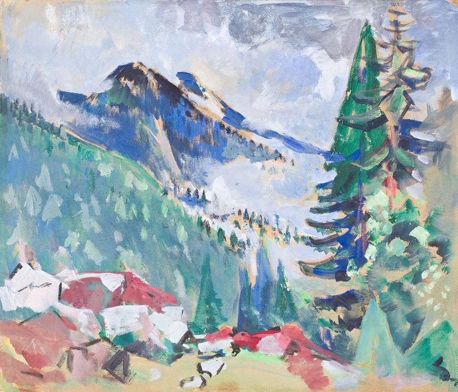 Krajobraz górski Oskara Molla