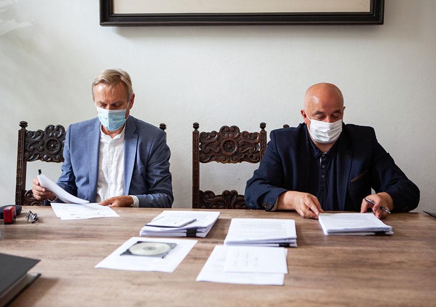 Podpisanie umowy dotyczącej modernizacji Panoramy Racławickiej