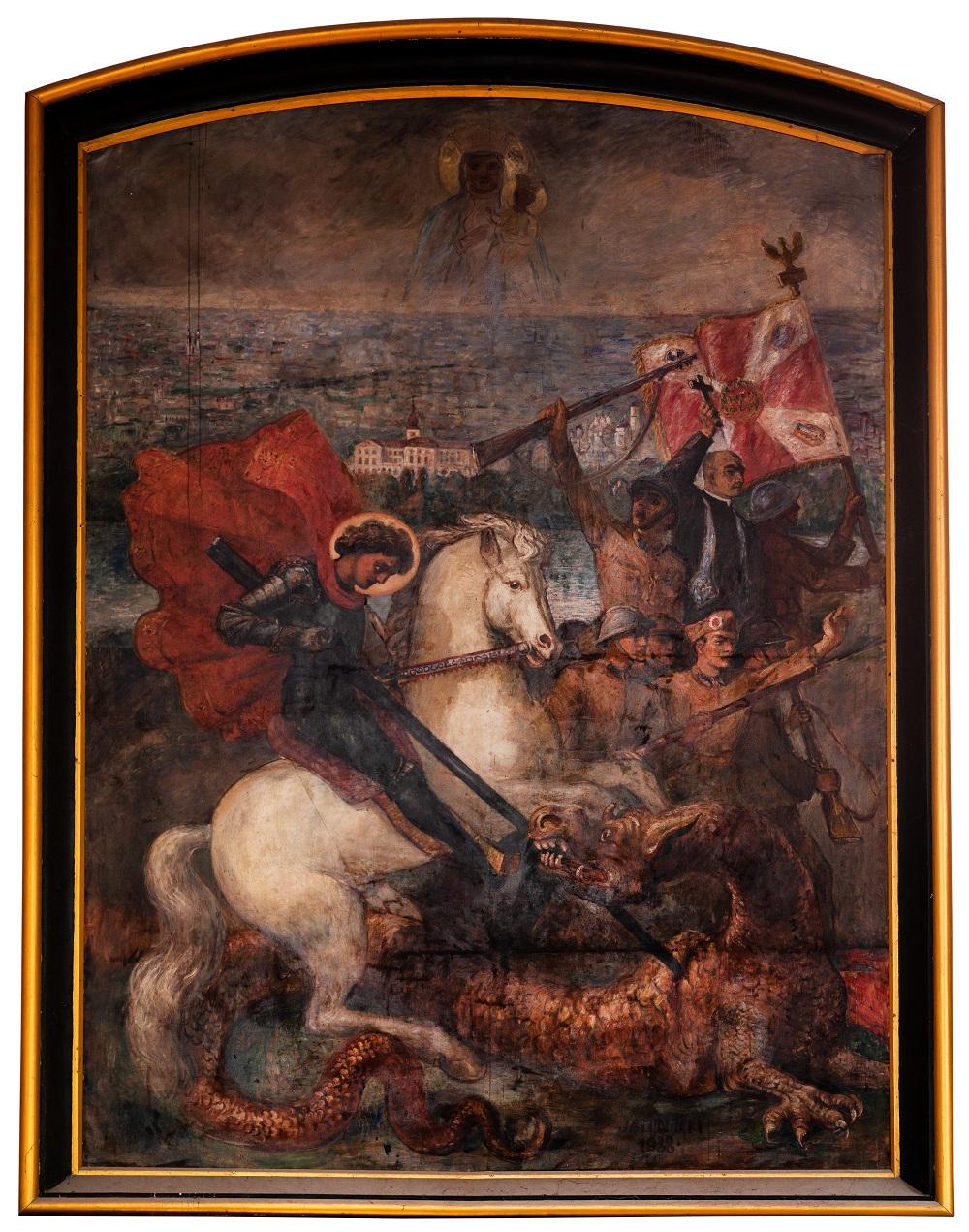 Juliusz Studnicki, Święty Jerzy walczący zesmokiem, 1938