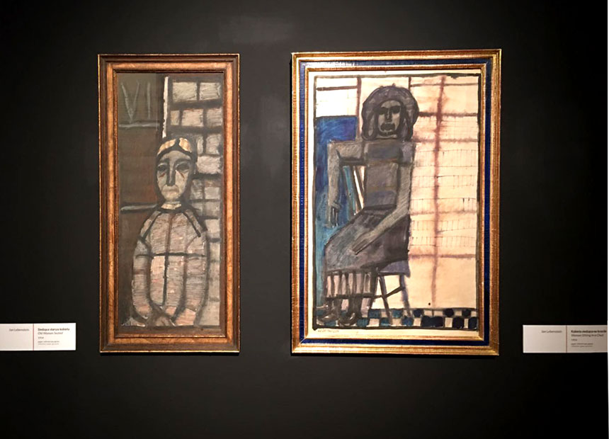 dwa obrazy Jana Lebensteina
