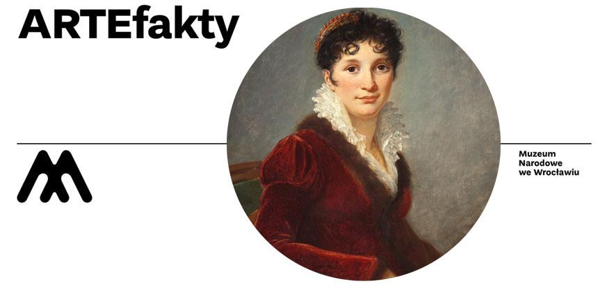 Artefakty – baner zfragmentem obrazu (portret damy)