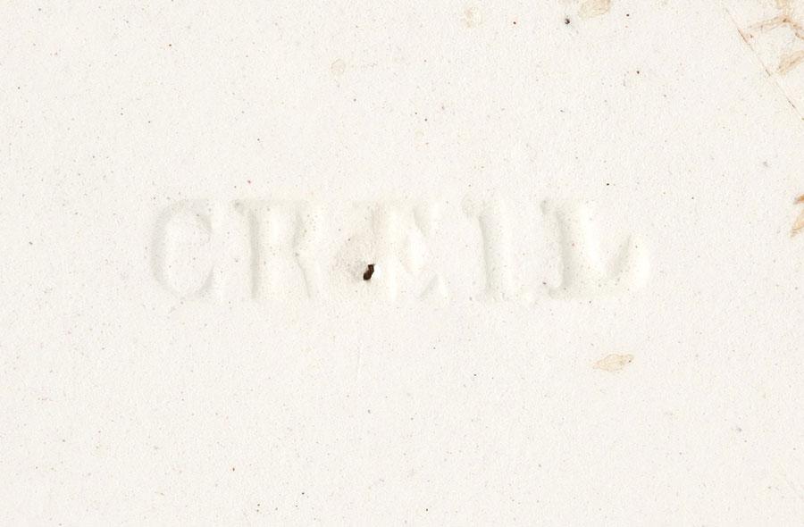 biała, wyciśnięta sygnatura CREIL