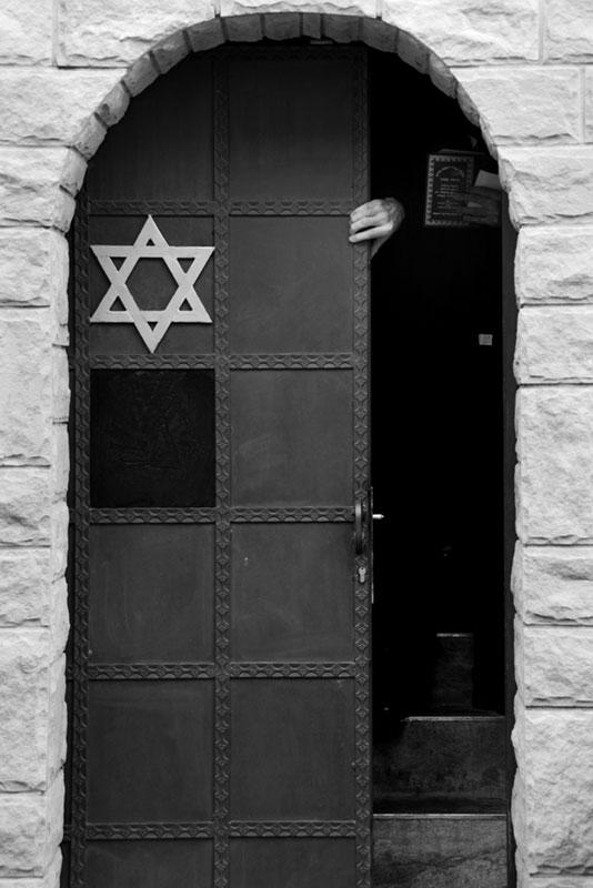 kute drzwi zgwiazdą Dawida