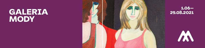 Galeria mody – baner zobrazem Krzesławy Maliszewskiej
