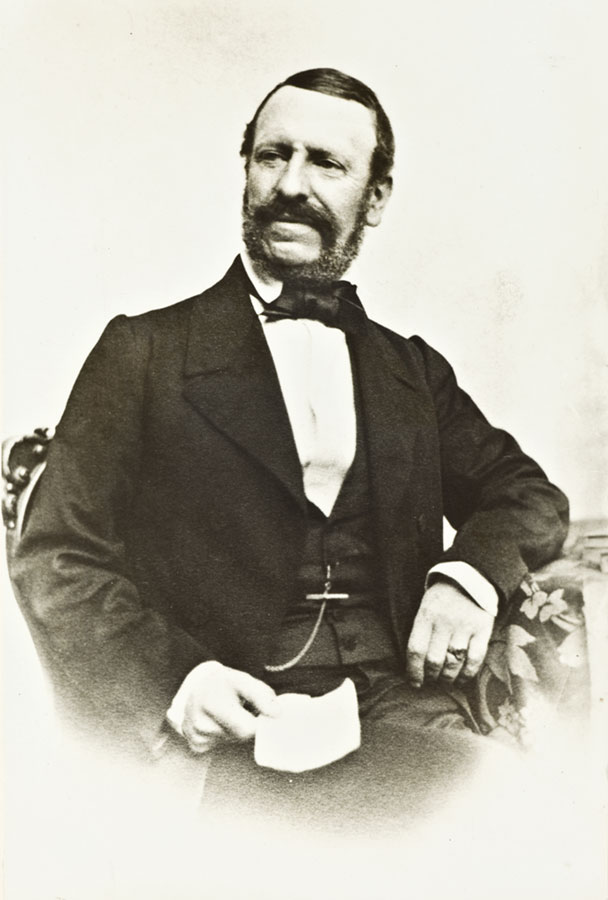 dagerotyp przedstawiający siedziącego barona